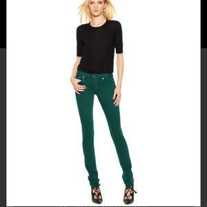 Tory Burch Green Super Skinny Jeans